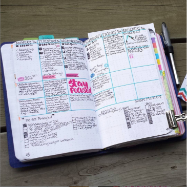 My current weekly layout