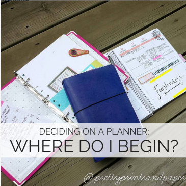 New to planning? Unsure what coil, ring-bound, traveler's notebook, bullet journal, foxydori, and other terms mean? Get started with these questions // www.prettyprintsandpaper.com
