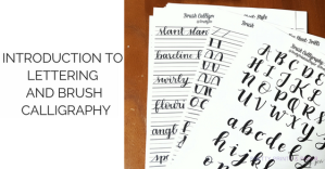 I do an overview of lettering and calligraphy plus give tips on how you get started!