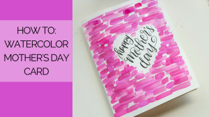 Walk through step by step how to create this watercolor Mother's Day card with a basic palette and your favorite brush pens // www.prettyprintsandpaper.com