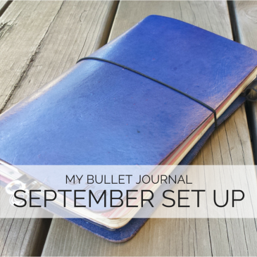 Check out how I set up my bullet journal in a traveler's notebook system // www.prettyprintsandpaper.com