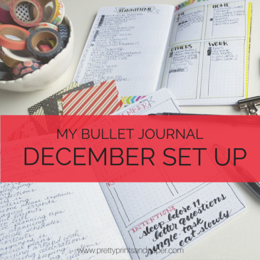 The week before the new month, I'll set up the next in my bullet journal - A peek into how I set up December // www.prettyprintsandpaper.com