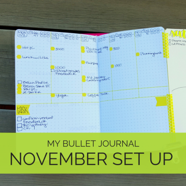 A walk through of how I set up my November monthly and weekly in my bullet journal // www.prettyprintsandpaper.com