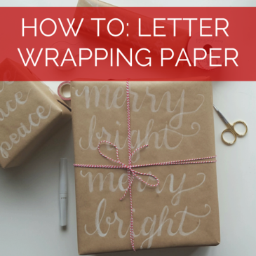 Add festive and beautiful script to your wrapping paper // www.prettyprintsandpaper.com