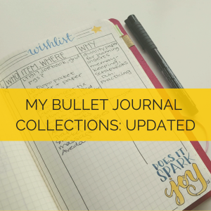 When I transitioned to a new collections notebook, here's how I made my bullet journal lists much more useful and robust // www.prettyprintsandpaper.com