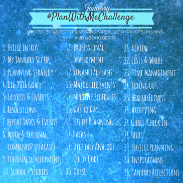 Help refine your own planning system and gather inspiration for the future through the #planwithmechallenge // www.prettyprintsandpaper.com