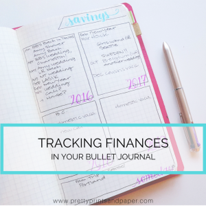 Track your finances and budget in your bullet journal - here's how it works for me // www.prettyprintsandpaper.com