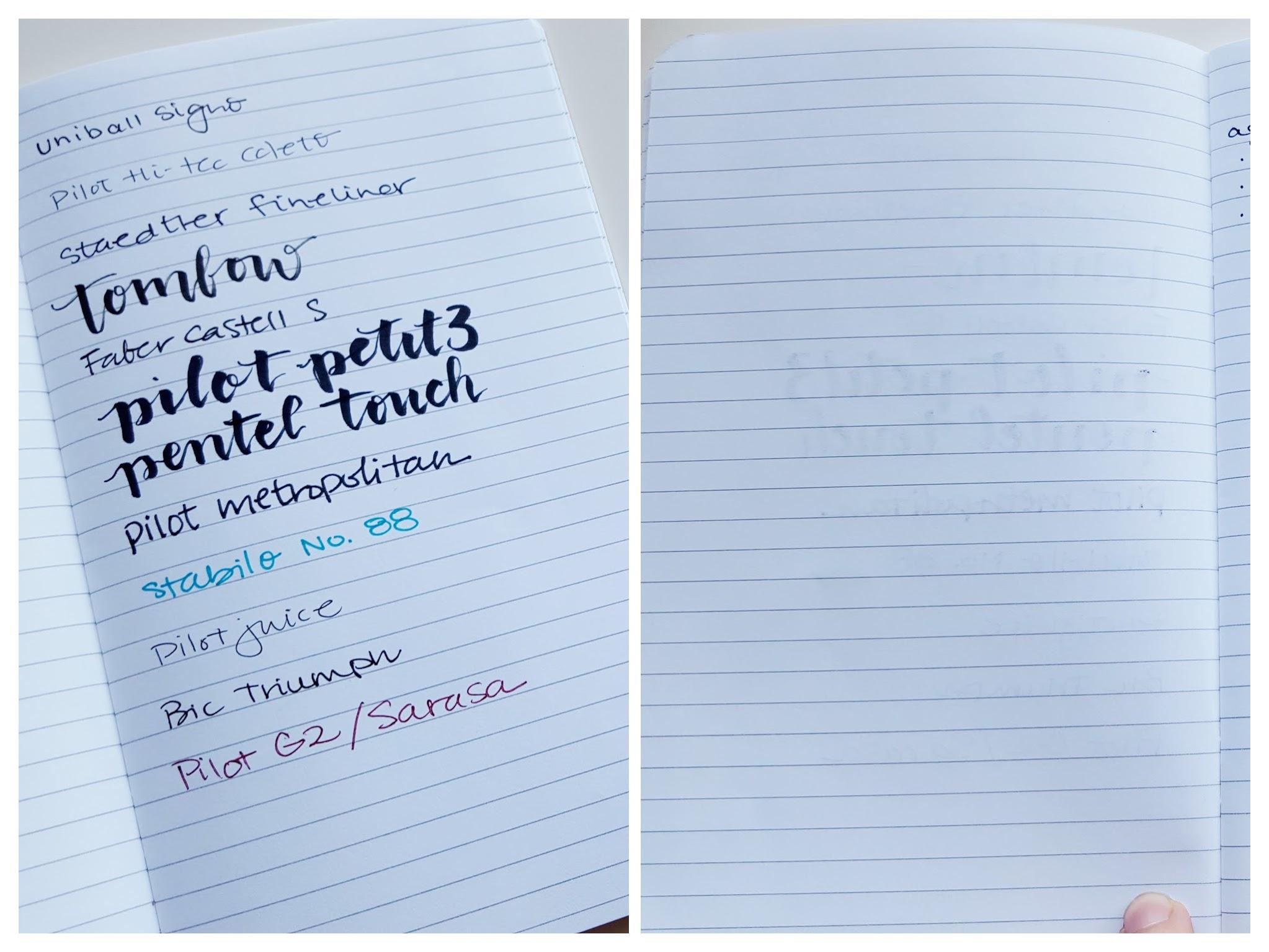 Bullet Journal Foxy Fix notebook pen test – Pretty Prints