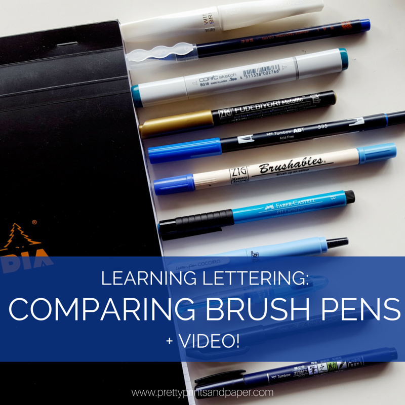 Video comparing brush pens pretty prints paper