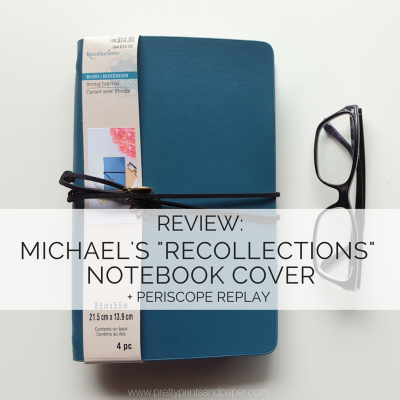 Review Michael S Recollections Notebook Cover Pretty