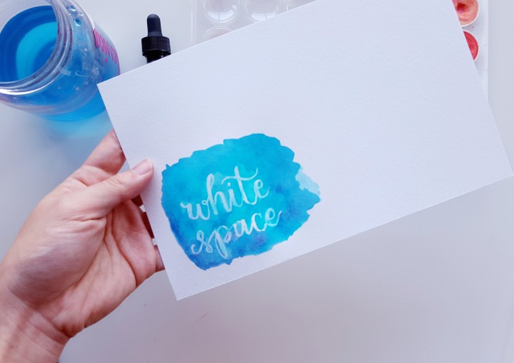 Quick Tutorial On How To Use A Gelly Roll As Resist In Your Watercolor Lettering