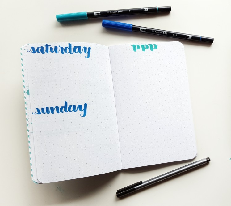 The weekend spread caps my whole spread by giving me space to work on my days and blog tasks // www.prettyprintsandpaper.com