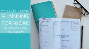 Walk through how you can use the bullet journal for your 9-5 // www.prettyprintsandpaper.com