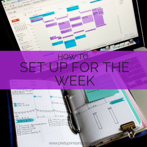 How you can use the Sunday meeting to make our household run smoothly and plan for the week // www.prettyprintsandpaper.com