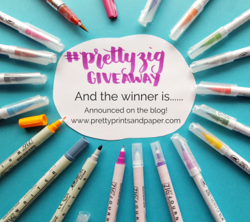 Who was the lucky winner of the #prettyziggiveaway? Check out the blog to find out! // www.prettyprintsandpaper.com
