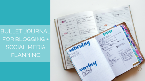 Stay on top of your blogging and social media - here's how I do it with my bullet journal // www.prettyprintsandpaper.com