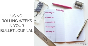 YT using rolling weeks in bullet journal