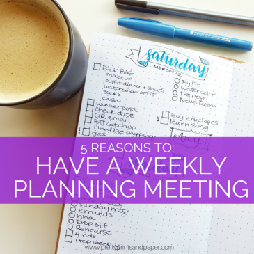 Having a weekly house meeting has changed my life - read more about why on the blog // www.prettyprintsandpaper.com