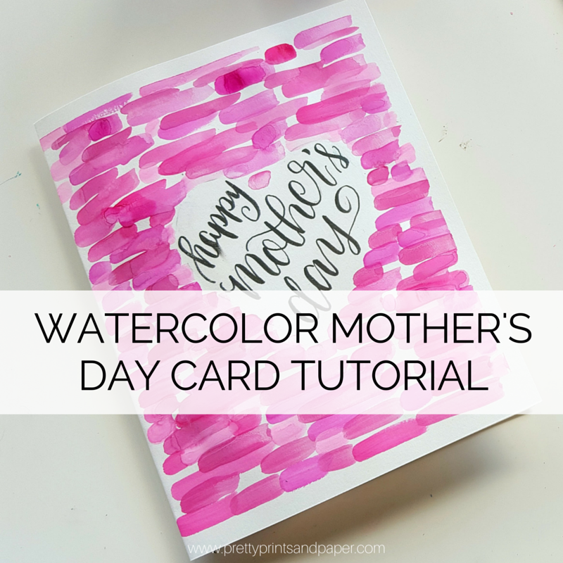 How to watercolor mothers day card pretty prints paper m4hsunfo Image collections