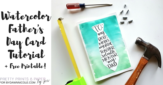 Follow this tutorial at the DawnNicole blog to create your own DIY Father's Day Card