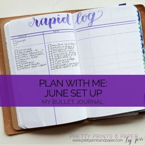 Check out how I've set up for June in my bullet journal!