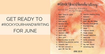 Join @prettyprintsandpaper @decadethirty @tinyrayofsunshine and @boho.berry for another month of the #RockYourHandwriting challenge!