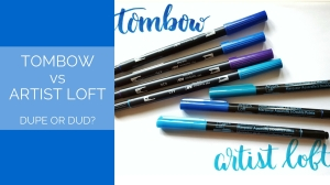 Before you spend the money, check out my comparison of the infamous Tombow brush pens to the store brand Artist's Loft!