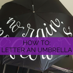 how to letter calligraphy umbrella