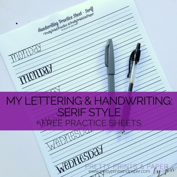 Practice a serif lettering style with free practice sheets and tutorial!