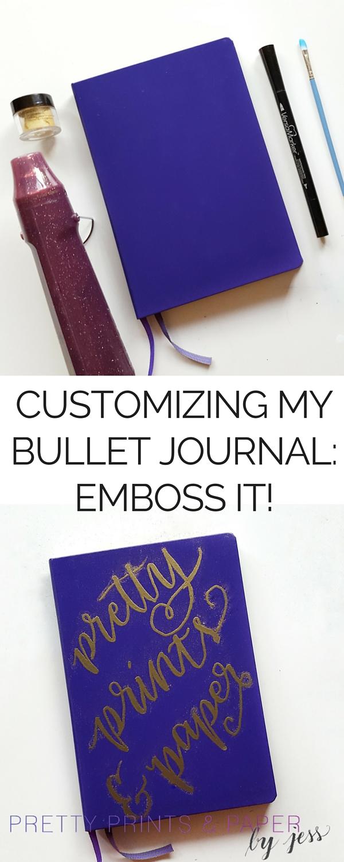 Customizing My Bullet Journal: Embossing Powder – Pretty Prints ...