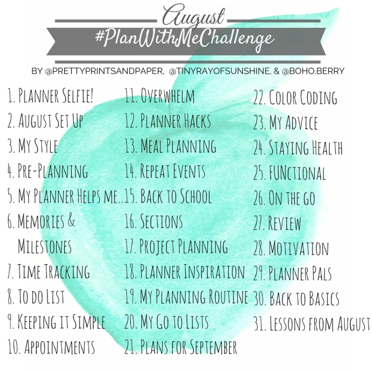 Join @PrettyPrintsandPaper, @TinyRayofSunshine, and @Boho.Berry in this month's @PlanWithMeChallenge to share and refine your planning system