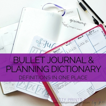 There are SO many words to learn when you start bullet journaling and planning - here is your dictionary of terms.