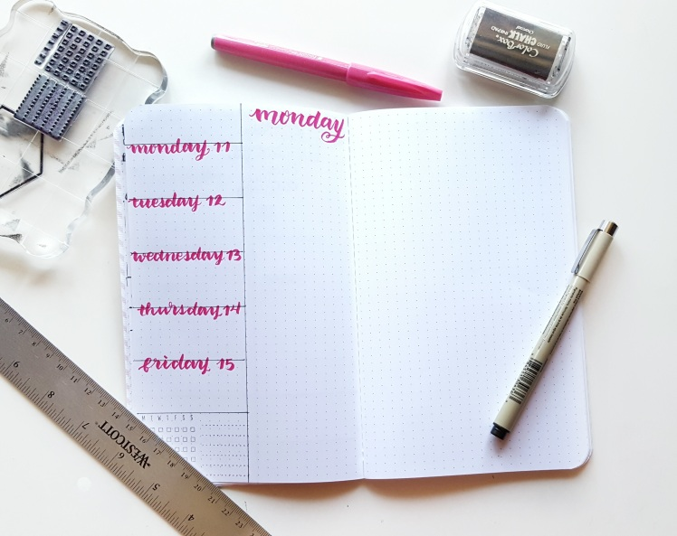 Want to know how to use the Rolling Weeks in your bullet journal? Check out how I am setting up mine!
