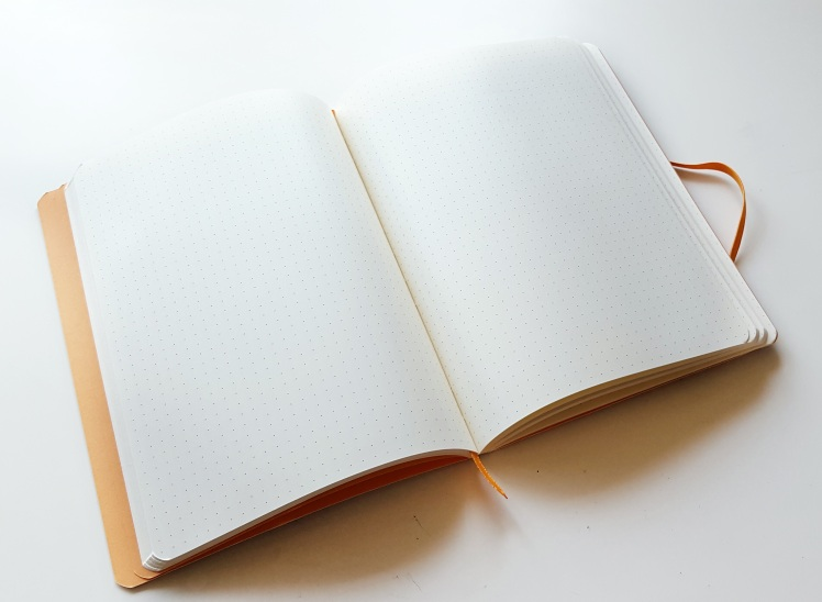 A review of the colored Rhodia dot grid soft cover notebook! Perfect for bullet journaling!