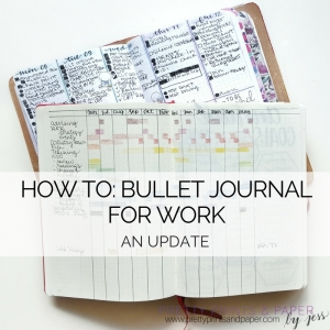 Ideas for how you can use the bullet journal for work