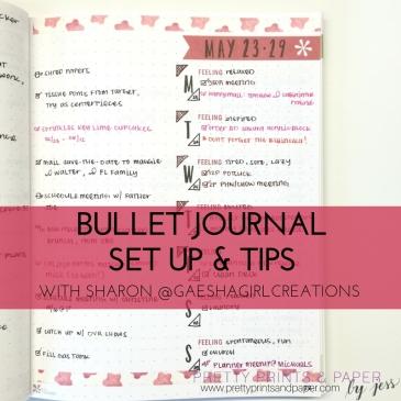 Sharon's Bullet Journal Set up & Tips