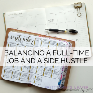 Today I share some big lessons I've learned while balancing a full time job and a side hustle