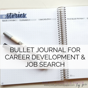 Today I combine 2 interests of mine - bullet journal and career development/job searching. See how you can use your bujo to get to your career goals!