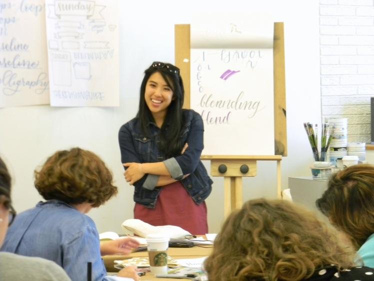 Jessica (@PrettyPrintsAndPaper) teaches a handlettering workshops in Minneapolis/St. Paul at Wet Paint Art!