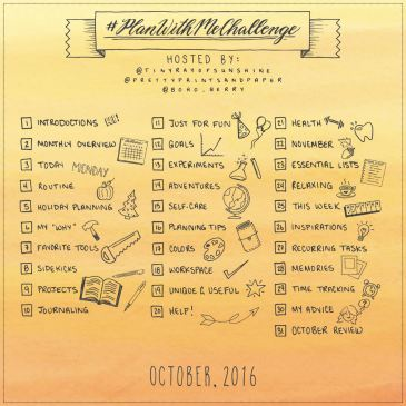 Join @prettyprintsandpaper, @tinyrayofsunshine, and @boho.berry for October's #PlanWithMeChallenge to dig into how your planning system works for you and how you can make it even better!