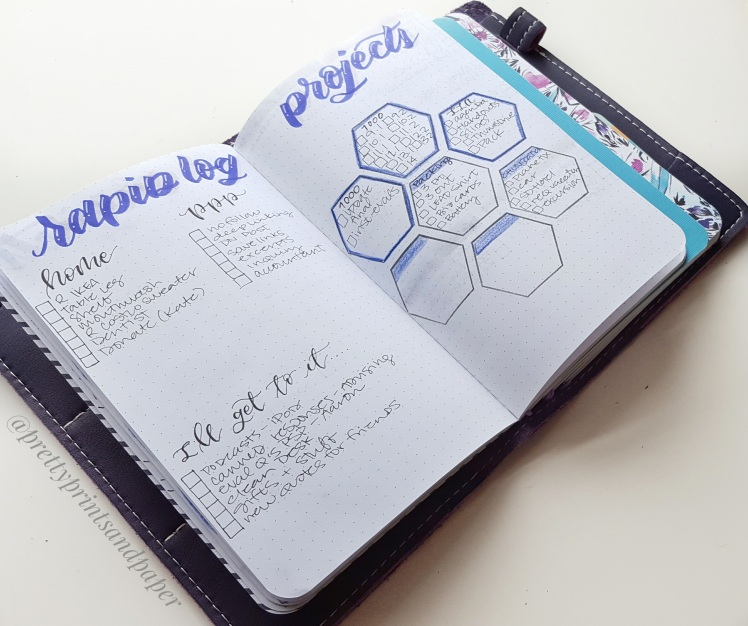Take a peek at the latest mocassin Foxy Notebook made just for May Designs notebooks and how I set up my bullet journal inside!