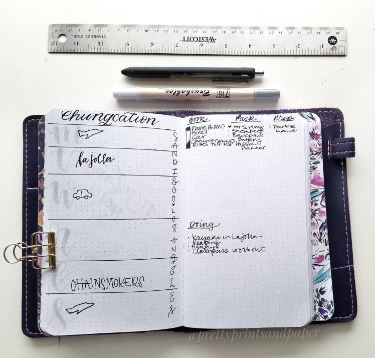 I share how the bullet journal helps me plan my next vacation