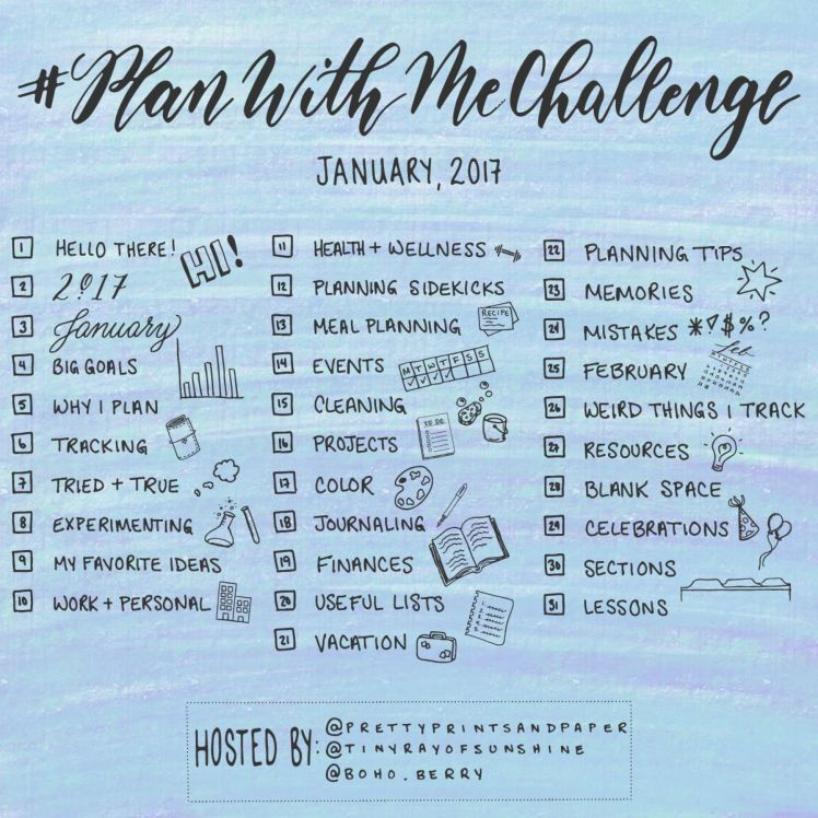Looking for a way to refine and share your planning system? Join the #PlanWithMeChallenge! Hosts: @PrettyPrintsandPaper, @tinyrayofsunshine, and @Boho.Berry