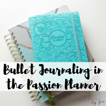 I'm experimenting with how to bullet journal in the Passion Planner - I share my set up, method, and reflections so far.