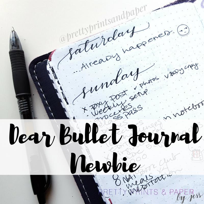 Dear bullet journal newbie pretty prints paper