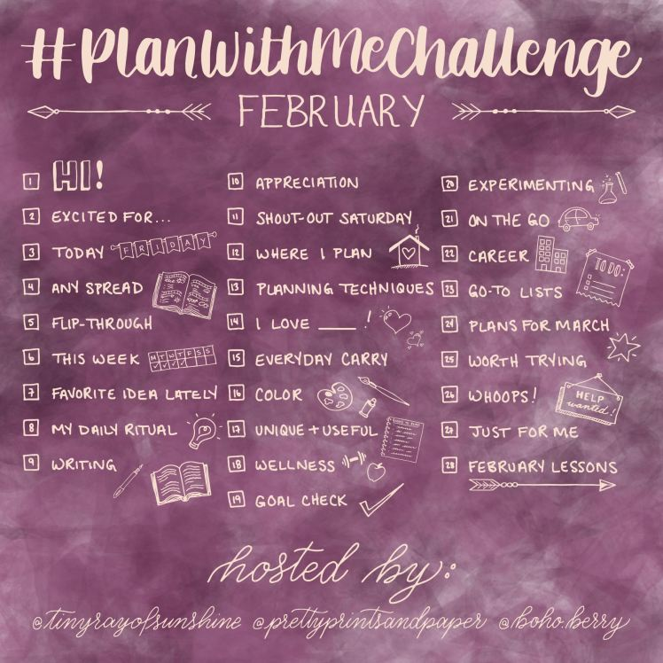 Join @prettyprintsandpaper, @tinyrayofsunshine, and @boho.berry for the #PlanWithmeChallenge where we share the hows and whys of how we plan!
