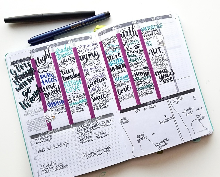 Trip planning in my passion planner. I'm experimenting with how to bullet journal in the Passion Planner - I share my set up, method, and reflections so far.