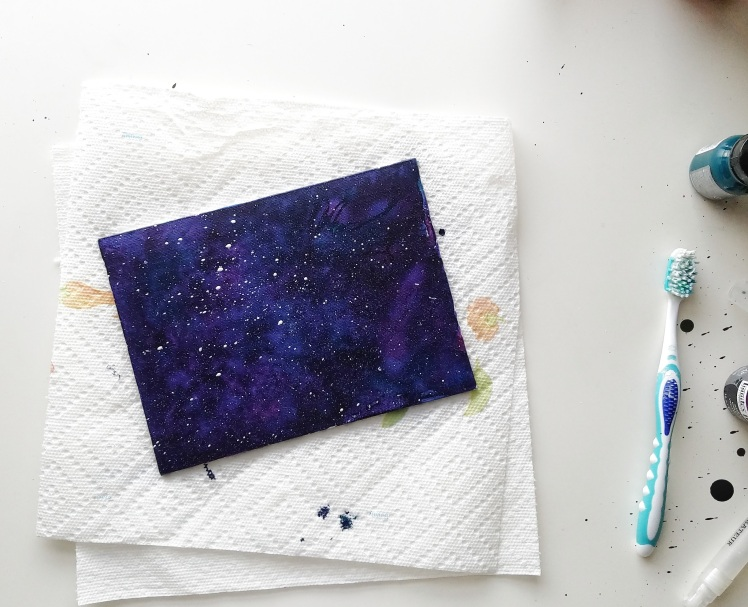 Acrylic galaxy lettering tutorial pretty prints paper for How to paint on paper with acrylic paints