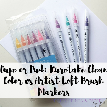 Today I compare the brand name Kuretake Clean Color Real Brush markers with the Artist Loft version from Michael's stores!