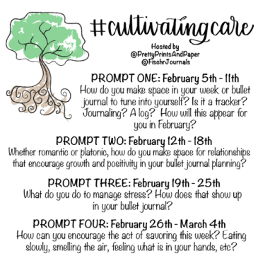 Make self-care and mental health a bigger part of your life in 2017 through the #CultivatingCare practice hosted by @prettyprintsandpaper and @fischrjournals